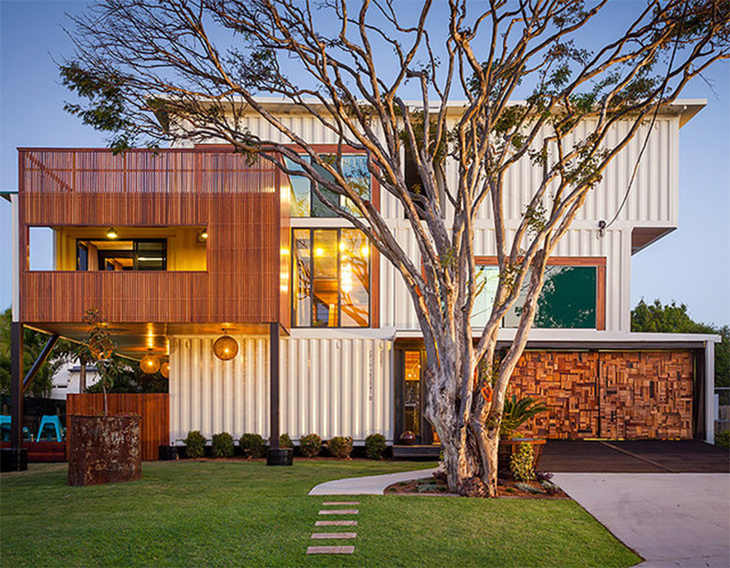 residence built out of shipping containers