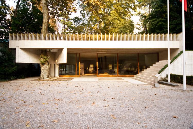 Periptero Skandinavikon hwrwn, Sverre Fehn, Giardini della Biennale, Venetia, Italia, 1962